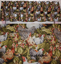 New Chickens Roosters Hen Farm Animals Country Living House Valances Curtains