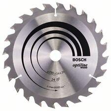 Bosch Optiline Lame De Scie Circulaire Pour Bois 190x20x24 2608640612