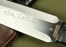 RAMBO 5  BOOT DAGGER 5.7mm 57HRC SHARP Full Tang HUNTING BOWIE CAMP KNIFE FK362