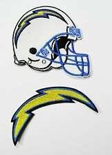 1 LOT OF (2) NFL SAN DIEGO CHARGERS HELMET & LIGHTNING BOLT PATCHES ITEM # 17