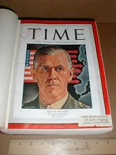 Time Magazine 1944 Bound Jan-June US WWII POW Wainwright 339th Fighter Squadron