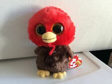 """Ty Beanie Boo FEATHERS the Thanksgiving Turkey 6"""" MWMT"""