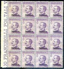Egeo Patmos 1912 n. 7 ** blocco di 16 (m433)