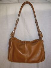 BAG BORSA VERA PELLE media GENUINE LEATER 27 cm X 15 cm X 18 cm. COLORE COGNAC