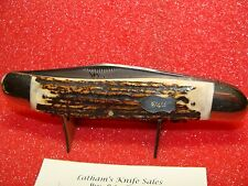 RIGID KNIFE--SOLINGEN GERMANY--JUMBO STOCKMAN--RG-17--STAG--HAND MADE