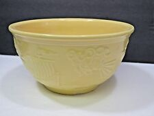 Vtg RRP Robinson Ransbottom Zephyrus Yellow Pottery Nesting Mixing Bowl Ship