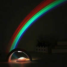 New Hot Room Magic Romantic LED Rainbow Projector Color Night Lamp Light - White