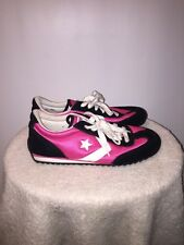 Womens Converse Hot Pink Black Suede/Leather All Star Re-Issue Sneakers Sz 9.5