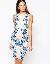 BNWT Lipsy Flocked Floral Print Illusion Shift Bodycon Dress UK10 *SALE* RRP £60