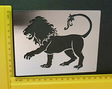 Stainless/Steel/stencil/Oblong/Lion//Emboss/NEW
