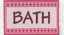 1:12 Scale Small Woven Pink BATH Rug Mat Dolls House Miniature Carpet Accessory