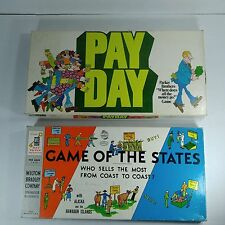 Pay Day & Game of the States-Lot of 2-Vintage Games Educational, Complete!