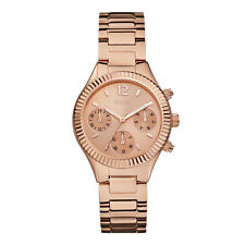 AUTHENTIC GUESS LADY RIVERA ROSE GOLD TONE WATCH RRP:$329 W0323L3 Brand New