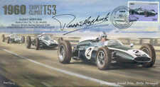 1960b COOPER-CLIMAX T53s & LOTUS 18, PORTO F1 cover signed PADDY HOPKIRK