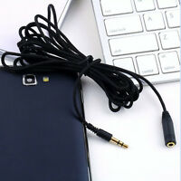 3m LONG 3.5mm Jack Plug to Socket AUX Headphone Extension Cable Lead GOLD  s8