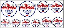 1:43 O SCALE CHEVRON SIGN BOXCAR GAS STATION TANKER TRUCK DIORAMA DECALS