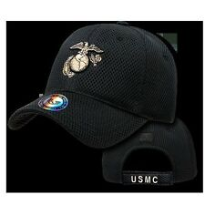 Military Baseball Cap Ball Hat US Marine Corps USMC Black Mesh Rapdom S002