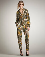 NWT Rachel Zoe Green Aidan Tapered Jumpsuit size 2 $495