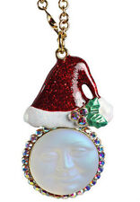 KIRKS FOLLY Santa's Helper Seaview Moon Necklace NWT