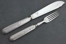 WHITE STAR LINE VICTORIAN BEAUTIFULLY ENGRAVED FISH KNIFE & FORK MAPPIN BROTHERS