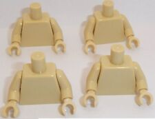 Lego Tan Torso's x 4 with Tan Hands & Arms for Miinifigure