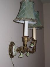 VINTAGE Italian or French Gilt & Capodimonte Rose Antique Wall Sconce