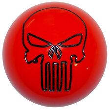 Dark Orange Punisher Skull shift knob M12x1.25