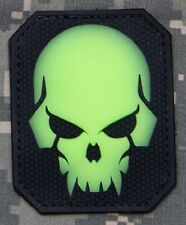 DEVIL DEATH PIRATE SKULL 3D PVC HOOK Tactical Badge Morale Military Patch GLOW