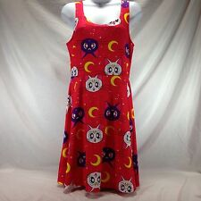 Sailor Moon Luna Artemis Skater Dress Red Juniors Size Medium M