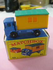 VINTAGE 60/70´S MATCHBOX LESNEY TRUCK WITH SITE OFFICE Nº60