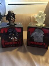 "Predator 2 Pair Micro Bust 3.5"" Palisades Toys 2003 Limited Stealth In Boxes AVP"