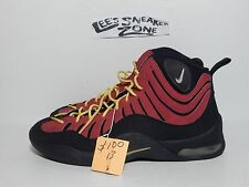 Nike Mens Air Bakin Black Varsity Red Basketball Retro Shoes (316383 001) SZ 13