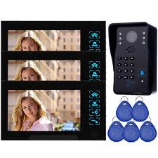 """Top 7""""LCD Video Doorbell Phone Monito&Camera Intercom Door Access Control CO"""