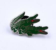 """YESTERDAYS CO. 1"""" ALLIMATERS HARD ENAMEL POLISHED SILVER PLATED LAPEL PIN"""