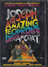 JOSEPH AND THE AMAZING TECHNICOLOUR DREAMCOAT DVD SEALED MUSICAL DONNY OSMOND