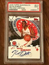 2006 KEVIN DURANT TOPPS MCDONALD'S ALL AMERICAN ROOKIE CARD AUTO. PSA 9. MINT