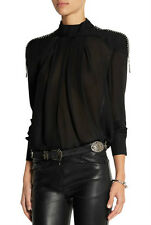 Pierre Balmain Embellished Crepe Blouse Brand New With Tags RRP £275