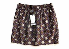 DOLCE & GABBANA D&G WOMENS PURPLE BROWN PLAID CHECK SKIRT *IT 44/UK 12* BNWT