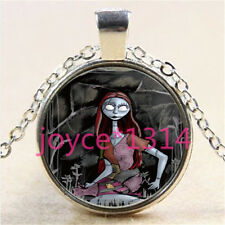 Nightmare Before Christmas Cabochon silver Glass Chain Pendant Necklace %3012