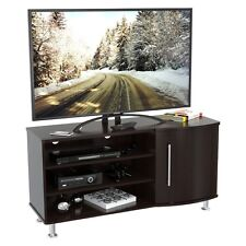 Curved Front 50 Inches Flat-Screen Tv Stand - Finished In Espresso-Wengue NEW