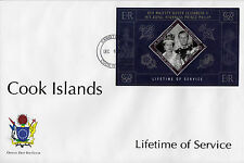 Cook Islands 2011 FDC Lifetime Services 1v Sheet Cover Queen Elizabeth Philip