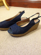 Heavenly Feet denim sling back shoes UK 3.5