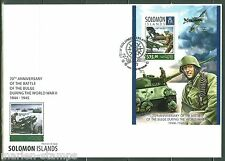 SOLOMON ISLANDS 2014 70th ANNIVERSARY  OF THE BATTLE OF THE BULGE  S/S FDC
