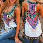 Sexy Women Ethnic Floral Vest Top Sleeveless Blouse Casual Tank Tops T-Shirt
