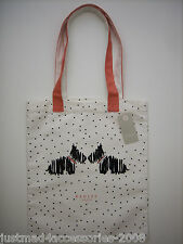 RADLEY - FLEET STREET - COTTON CANVAS TOTE / SHOPPER BAG - RADLEYS & POLKA DOTS