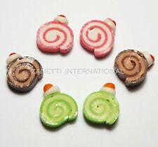 6 Mixed Dollhouse Miniature Roll Cakes * Doll Mini Food Bakery Cake Chocolate