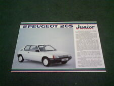 February 1987 PEUGEOT 205 JUNIOR Special Edition - UK COLOUR LEAFLET BROCHURE