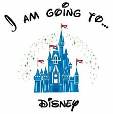 ***I'M GOING TO DISNEY MICKEY MINNIE  ********T-SHIRT IRON ON TRANSFER