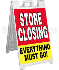Signicade A-Frame Sidewalk Going Out of Business Pavement Sign - STORE CLOSING