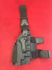 SAFARILAND Drop Leg Holster Beretta 92 w/Light Holder RH Black Great Condition